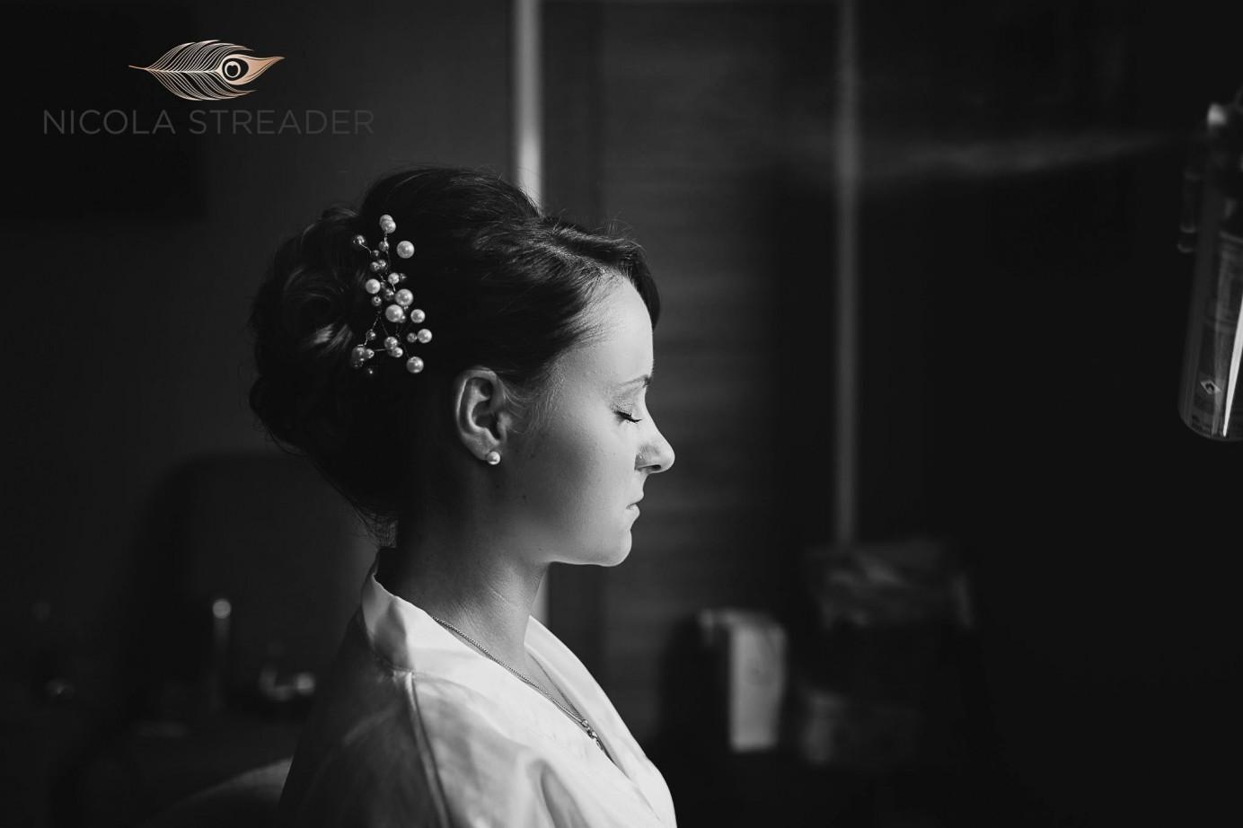 Bride Rachael Black and White